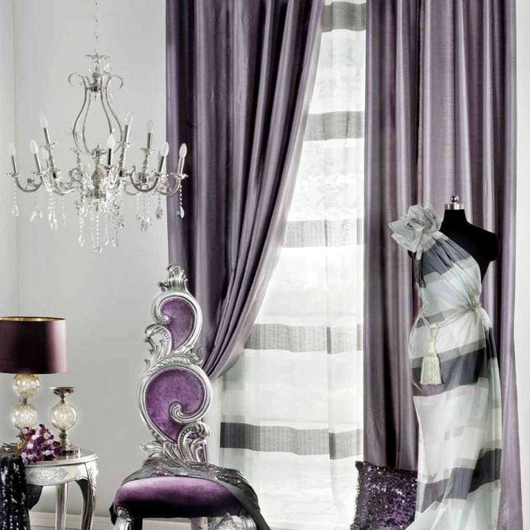 Living Room Curtains Ideas Purple Curtains