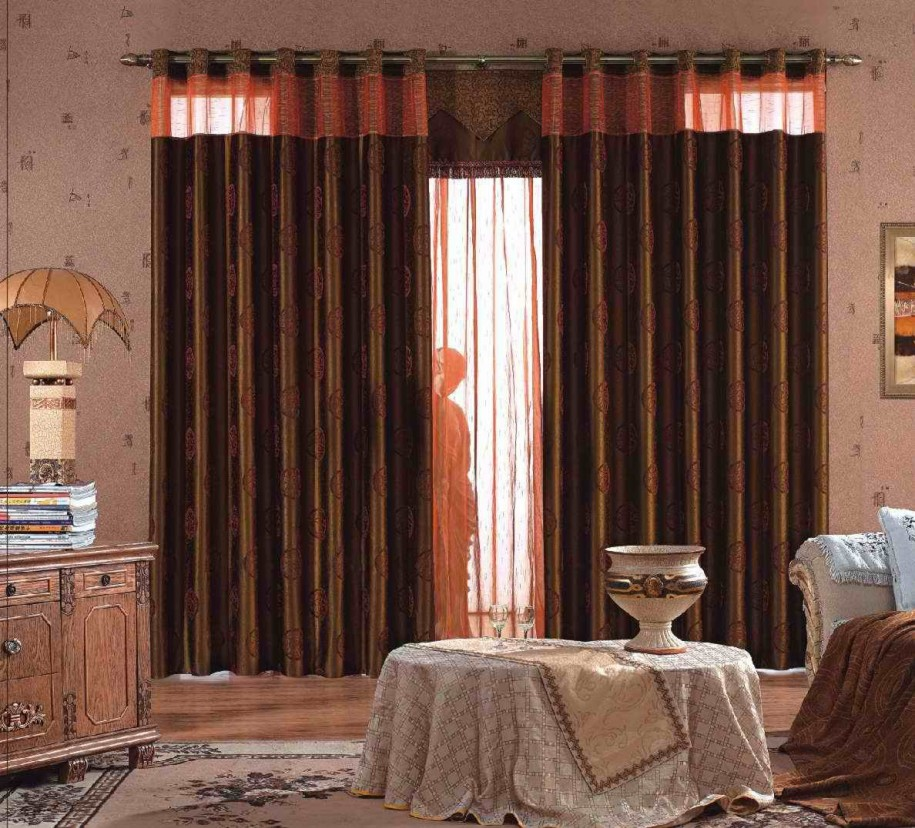 14 cool living room curtains ideas you should try this year. Black Bedroom Furniture Sets. Home Design Ideas