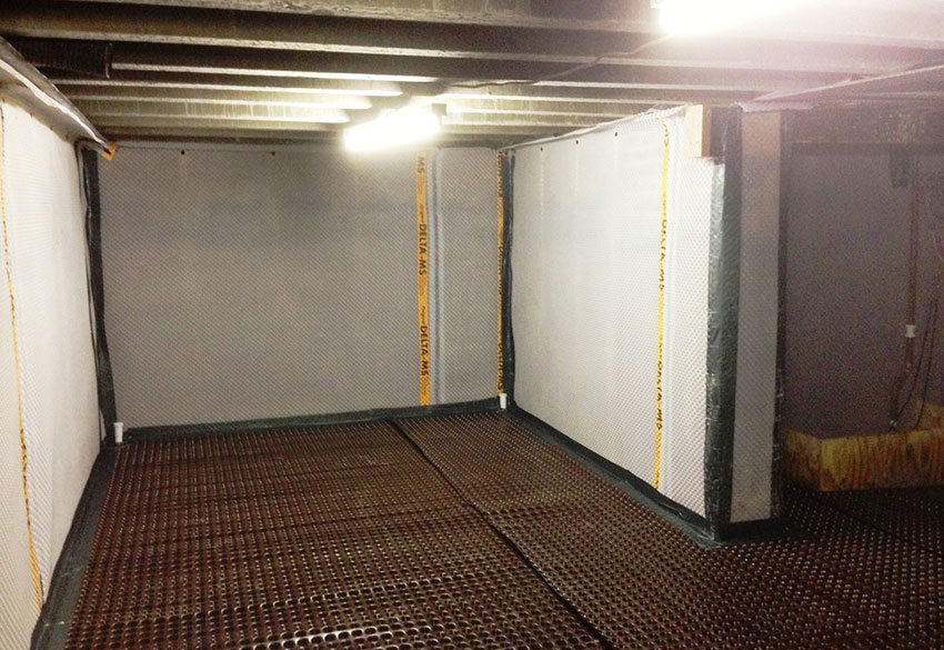 Interior basement waterproofing membrane superseal How to waterproof interior basement walls