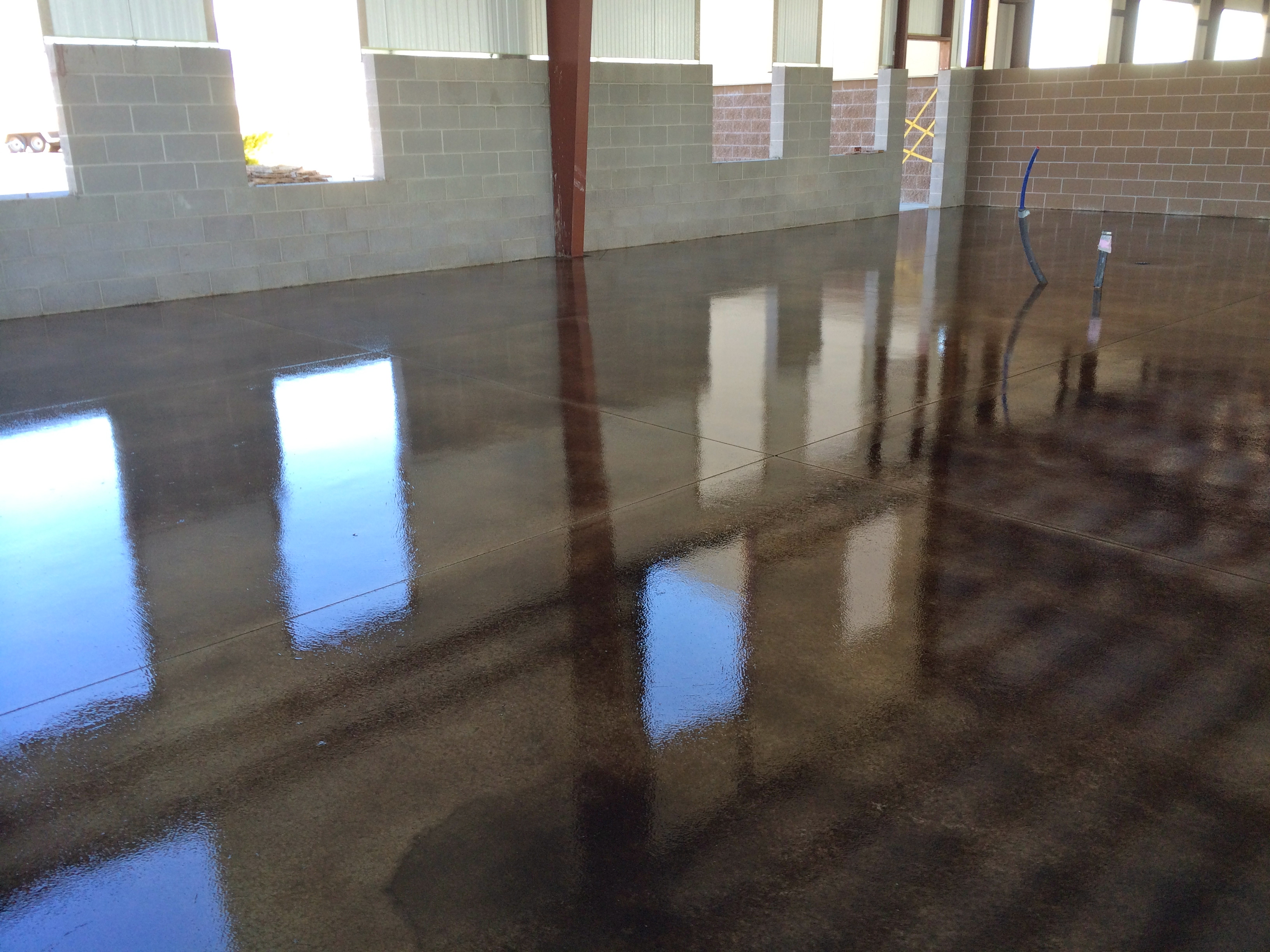 Stained Concrete Floors Design Ideas
