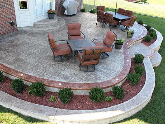 Add New Look With Stamped Concrete Patios To Your House ... on Back Concrete Patio Ideas id=13893